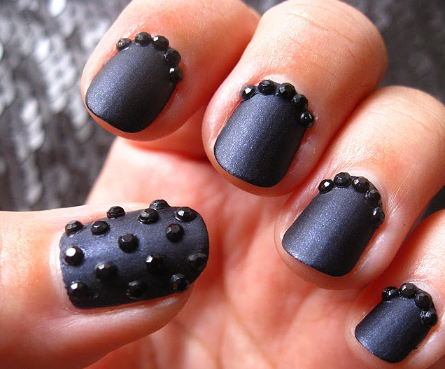 Nail art badass nails studs matte and black perfection prinsesfo Image collections