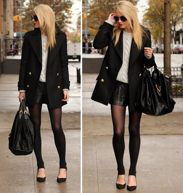 Short black jacket outfits